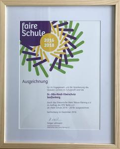 Auszeichnung Faire Schule
