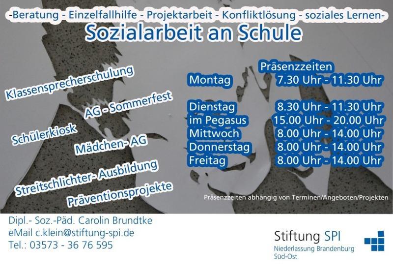 Schulsozialarbeit Rindt-Oberschule Flyer